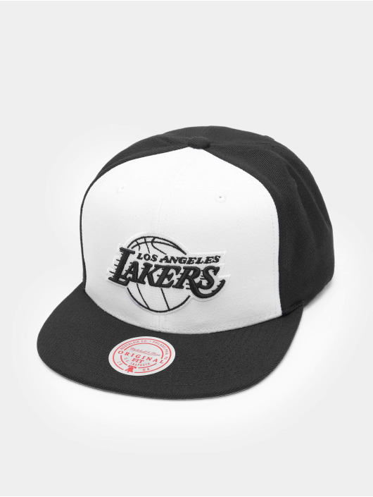 Mitchell & Ness Casquette Snapback & Strapback Front Post Los Angeles blanc