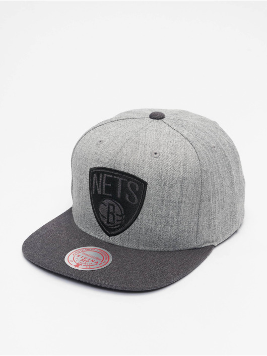 Mitchell & Ness Casquette Snapback & Strapback Dual Heather Brooklyn Nets gris