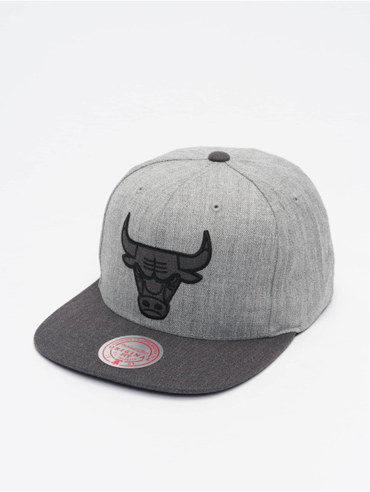 Mitchell & Ness Casquette Snapback & Strapback Dual Heather Chicago Bulls gris