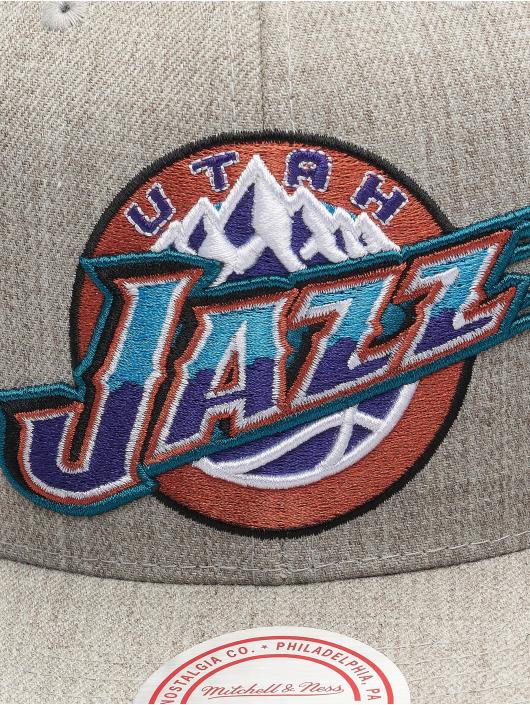 Mitchell & Ness Casquette Snapback & Strapback Team Heather HWC Utah Jazz gris