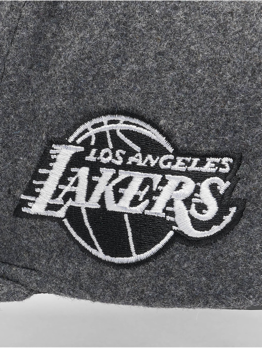 Mitchell & Ness Casquette Snapback & Strapback NBA Los Angeles Lakers Melton COD gris