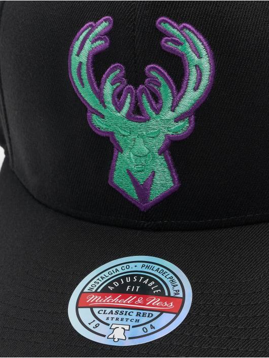Mitchell & Ness Casquette Snapback & Strapback Nitro Wave Redline Milwaukee Bucks noir
