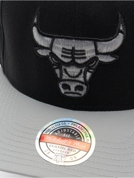 Mitchell & Ness Casquette Snapback & Strapback Shadow Redline Chicago Bulls noir