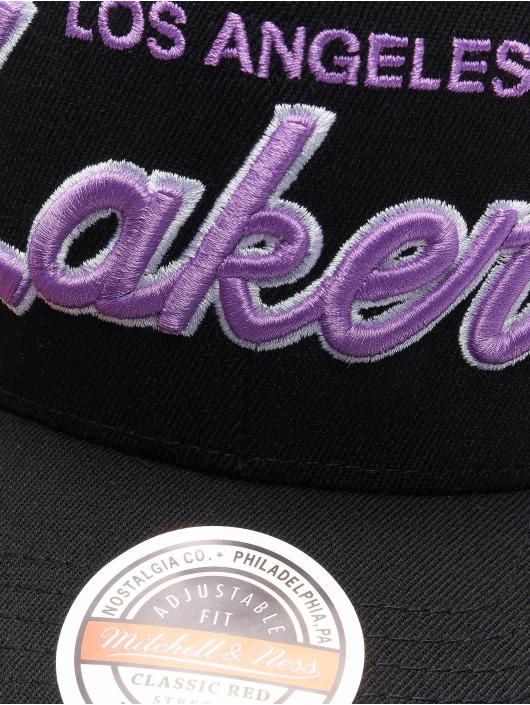 Mitchell & Ness Casquette Snapback & Strapback Foundation Script HWC Los Angeles Lakers Stretch noir