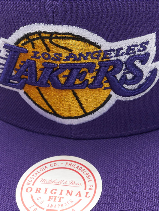Mitchell & Ness Casquette Snapback & Strapback Team Ground Los Angeles Lakers pourpre
