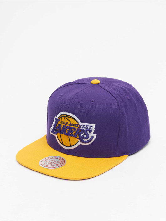 Mitchell & Ness Casquette Snapback & Strapback Wool 2 Tone Los Angeles Lakers pourpre