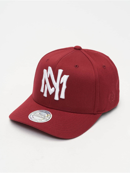 Mitchell & Ness Casquette Snapback & Strapback 110 Curved Interlocked OB rouge