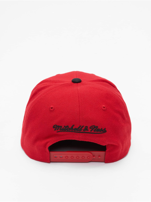 Mitchell & Ness Casquette Snapback & Strapback Wool 2 Tone Chicago Bulls rouge