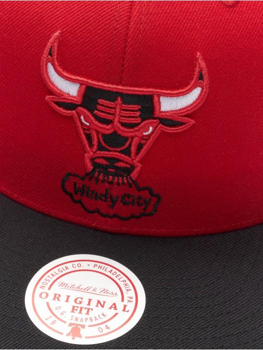 Mitchell & Ness Casquette Snapback & Strapback Wool 2 Tone HWC Chicago Bulls rouge