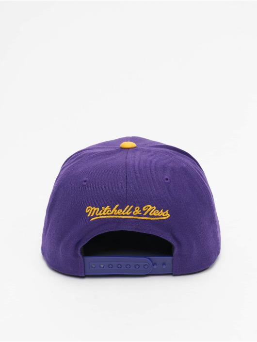 Mitchell & Ness Gorra Snapback Wool 2 Tone Los Angeles Lakers púrpura