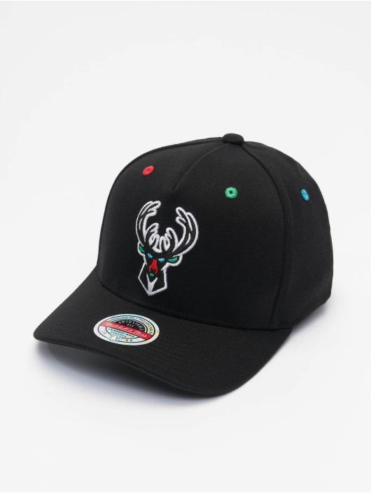 Mitchell & Ness Snapback Cap RGB Stretch Milwaukee Bucks black