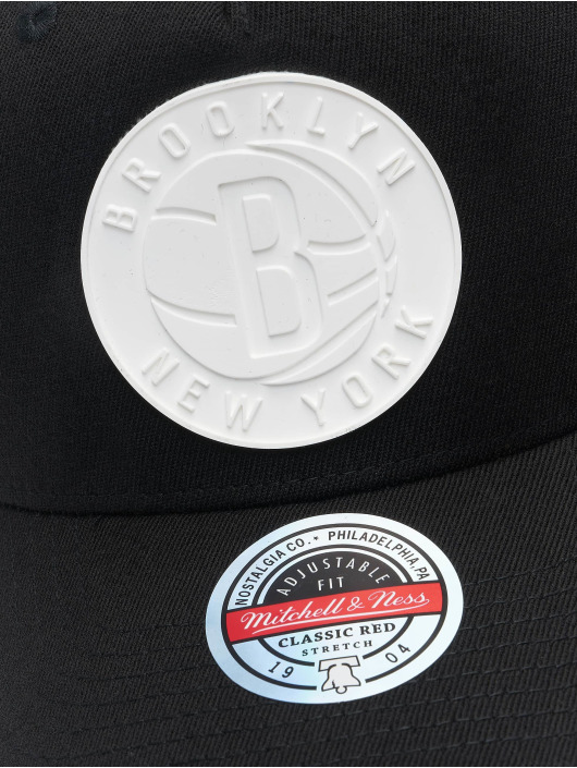 Mitchell & Ness Snapback Cap Casper Redline Brooklyn Nets black