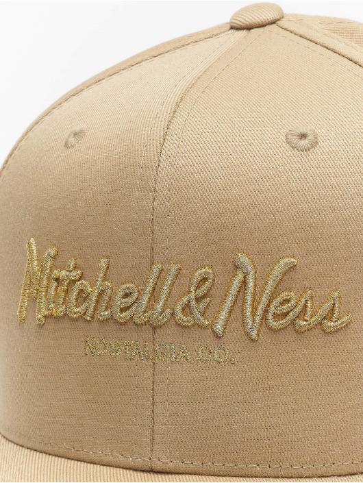 Mitchell & Ness Snapback Cap Own Brand Metallic Pinscript cachi