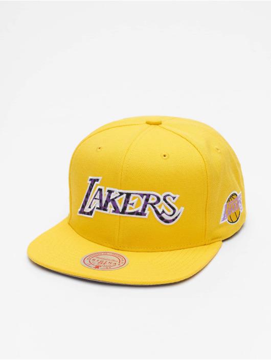 Mitchell & Ness Snapback Cap Wildback HWC LA Lakers gelb