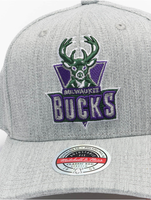 Mitchell & Ness Snapback Cap Team Heather Redline Milwaukee Bucks grau