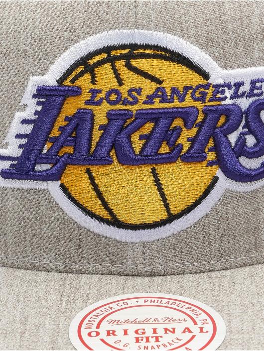 Mitchell & Ness Snapback Cap Team Heather Los Angeles Lakers grau