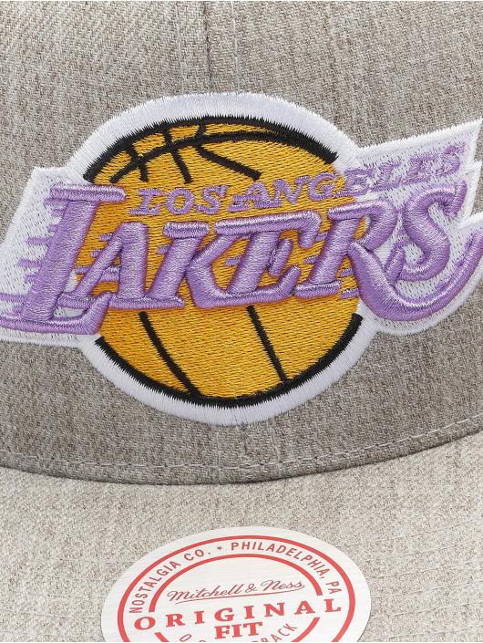 Mitchell & Ness Snapback Cap Team Heather HWC Los Angeles Lakers grau