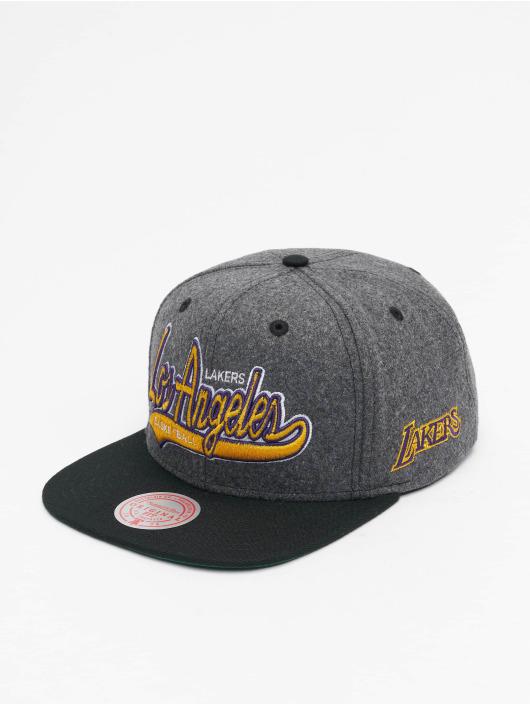 Mitchell & Ness Snapback Cap NBA Los Angeles Lakers HWC Melton COD grau