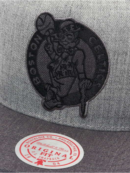 Mitchell & Ness Snapback Cap Dual Heather Boston Celtics grey
