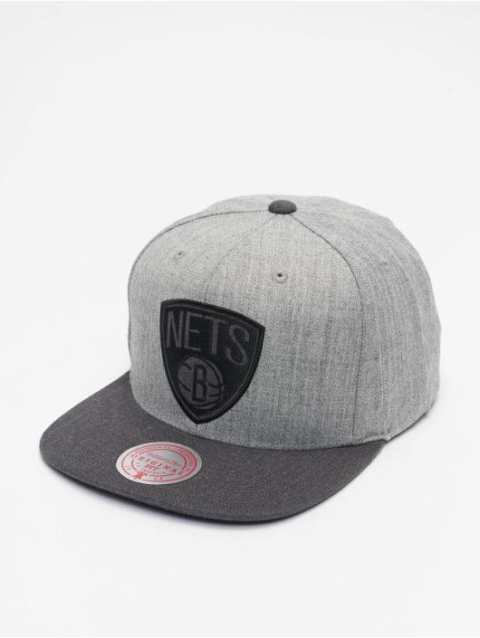 Mitchell & Ness Snapback Cap Dual Heather Brooklyn Nets grey
