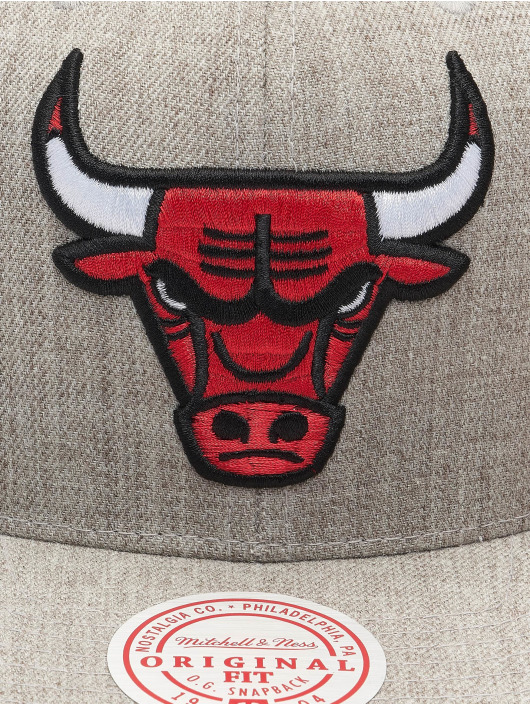 Mitchell & Ness Snapback Cap Team Heather Chicago Bulls grey