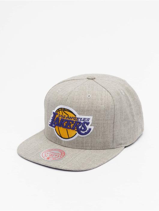 Mitchell & Ness Snapback Cap Team Heather Los Angeles Lakers grey