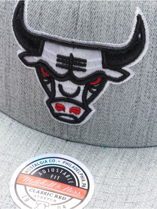 Mitchell & Ness Snapback Cap Team Heather Stretch HWC Chicago Bulls grey