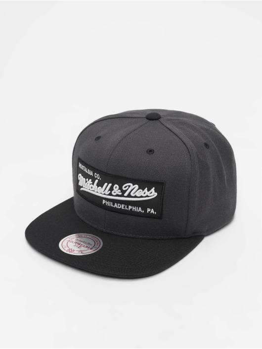 Mitchell & Ness Snapback Cap Branded Box Logo grigio