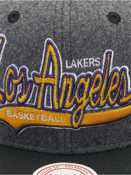 Mitchell & Ness Snapback Cap NBA Los Angeles Lakers HWC Melton COD grigio