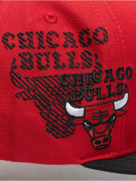 Mitchell & Ness Snapback Cap NBA Chicago Bulls Side To Side red