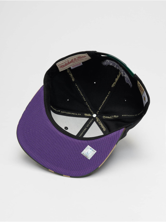 Mitchell & Ness Snapback Cap Woodland LA Lakers Blind schwarz