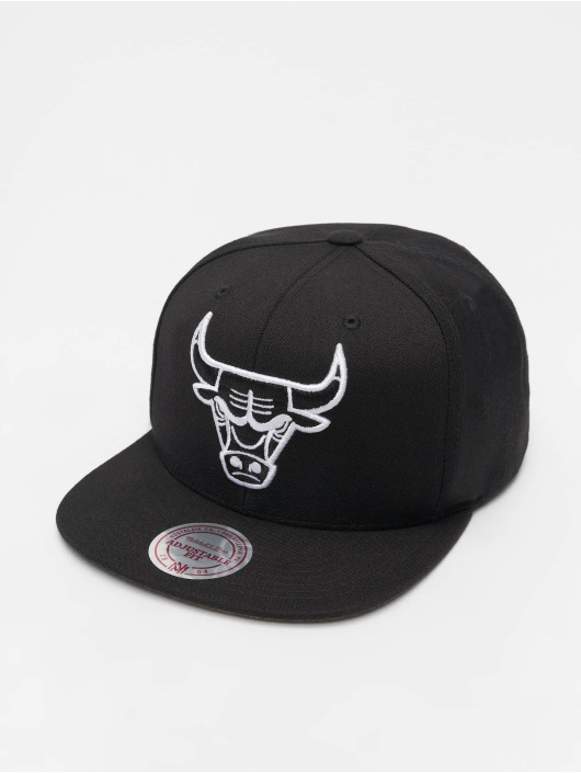 Mitchell & Ness Snapback Cap NBA Chicago Bulls Wool Solid schwarz