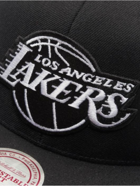 Mitchell & Ness Snapback Cap NBA LA Lakers Wool Solid schwarz