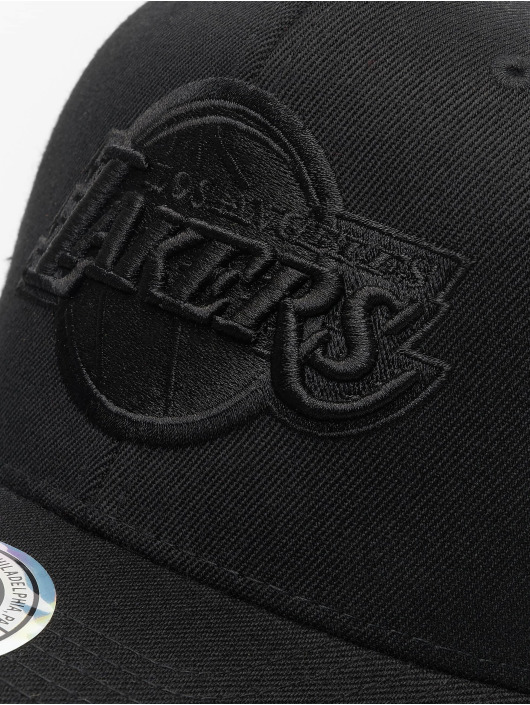 Mitchell & Ness Snapback Cap NBA LA Lakers 110 Black On Black schwarz