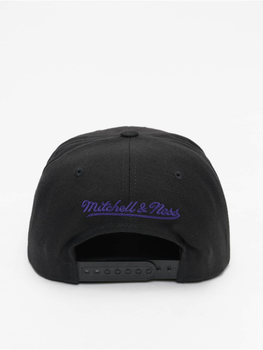 Mitchell & Ness Snapback Cap L.A. Lakers Team Logo Deadstock Throwback schwarz