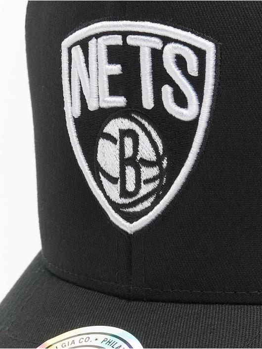 Mitchell & Ness Snapback Cap NBA Team Brooklyn Nets Logo High Crown 6 Panel 110 schwarz