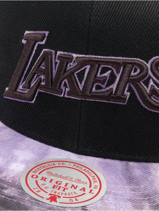 Mitchell & Ness Snapback Cap Blitzed HWC LA Lakers schwarz