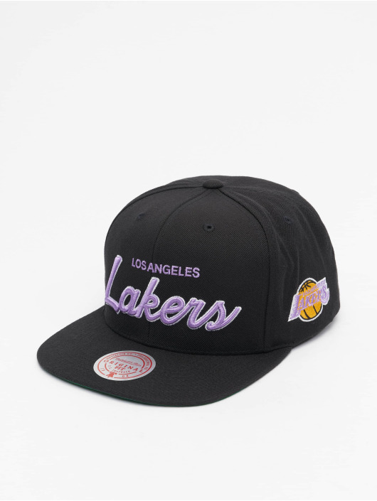 Mitchell & Ness Snapback Cap Foundation Script HWC Los Angeles Lakers schwarz