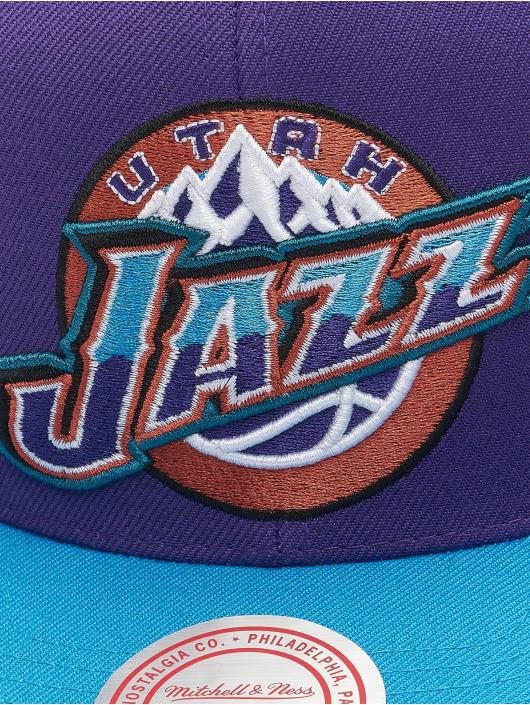 Mitchell & Ness Snapback Cap Wool 2 Tone HWC Utah Jazz violet