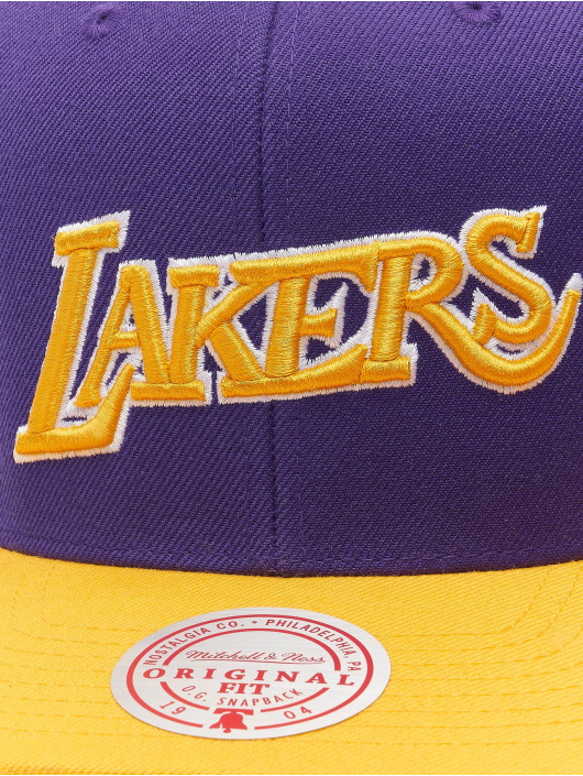 Mitchell & Ness Snapback Cap Wool 2 Tone HWC Los Angeles Lakers violet