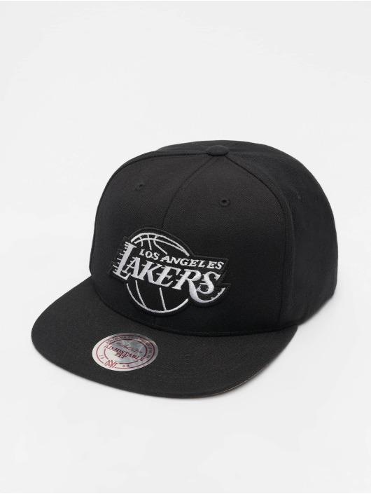 Mitchell & Ness Snapback Caps NBA LA Lakers Wool Solid čern
