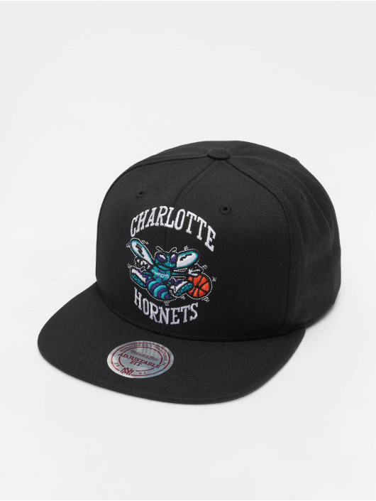 Mitchell & Ness Snapback Caps NBA Charlotte Hornets Wool Solid čern