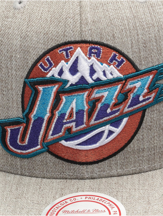 Mitchell & Ness Snapback Caps Team Heather HWC Utah Jazz šedá