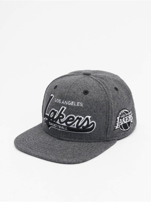 Mitchell & Ness Snapback Caps NBA Los Angeles Lakers Melton COD šedá