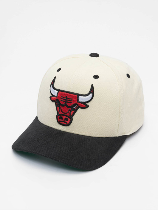 Mitchell & Ness Snapback Caps NBA Pro Crown Chicago Bulls bialy