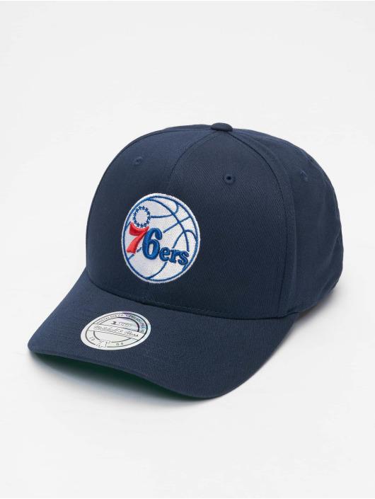 Mitchell & Ness Snapback Caps NBA Team Logo High Crown 6 Panel 110 Philadelphia 76ers blå