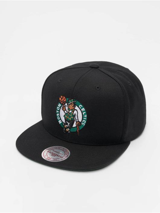 Mitchell & Ness Snapback Caps NBA Boston Celtics Wool Solid czarny