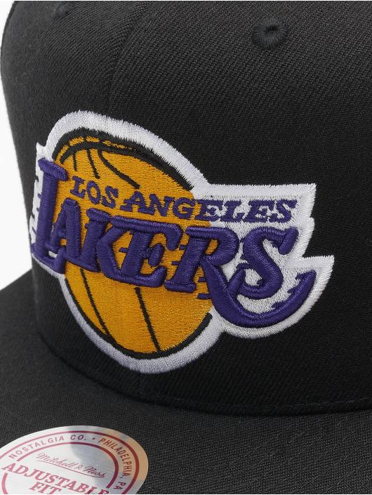 Mitchell & Ness Snapback Caps L.A. Lakers Team Logo Deadstock Throwback czarny
