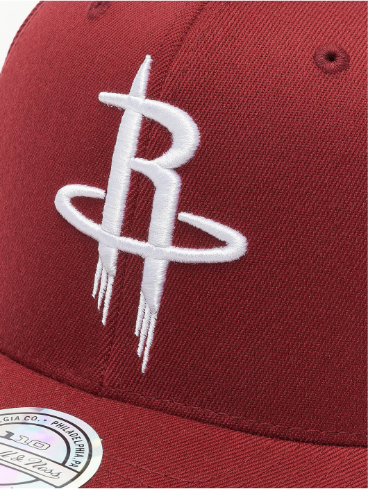 Mitchell & Ness Snapback Caps NBA Houston Rockets 110 Curved czerwony