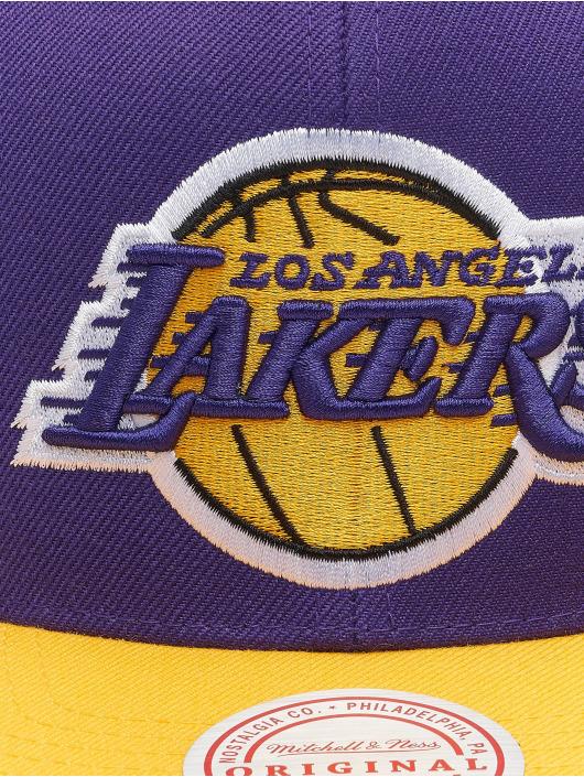 Mitchell & Ness Snapback Caps Wool 2 Tone Los Angeles Lakers fialový